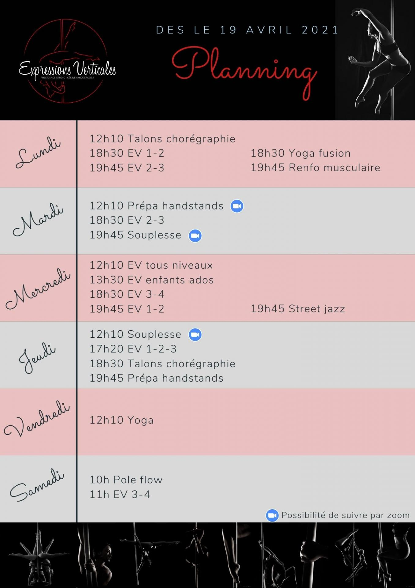 Pink blue general weekly cleaning schedule